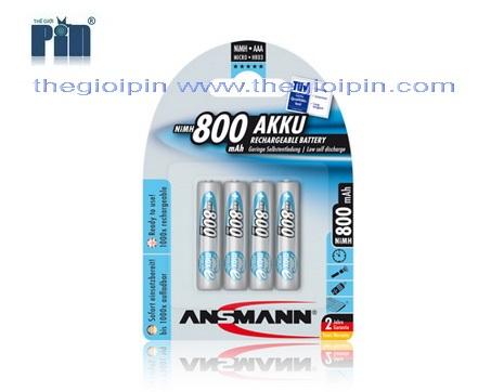 ANSMANN Pin sạc cao cấp NiMH HR03 AAA-800mAh - BL4 - 5035042