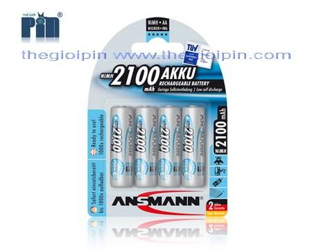 ANSMANN Pin sạc cao cấp NiMH HR6 AA-2100mAh - BL4 - 5035052