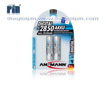 ANSMANN Pin sạc cao cấp NiMH HR6 AA-2850mAh - BL2 - 5035082