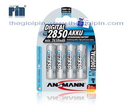 ANSMANN Pin sạc cao cấp NiMH HR6 AA-2850mAh - BL4 - 5035092