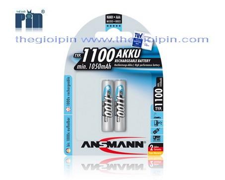 ANSMANN Pin sạc cao cấp NiMH HR03 AAA-1100mAh - BL2 - 5035222