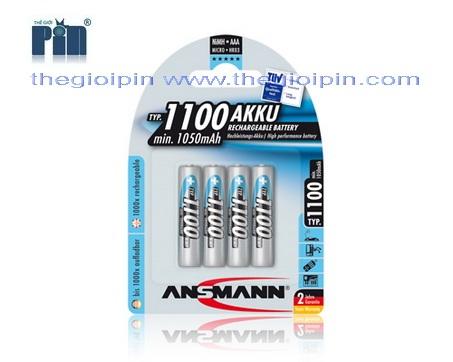 ANSMANN Pin sạc cao cấp NiMH HR03 AAA-1100mAh - BL4 - 5035232