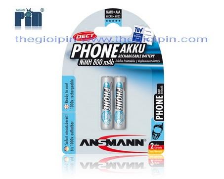 ANSMANN Pin sạc cao cấp NiMH HR03 AAA-800mAh - BL2 - 5035332