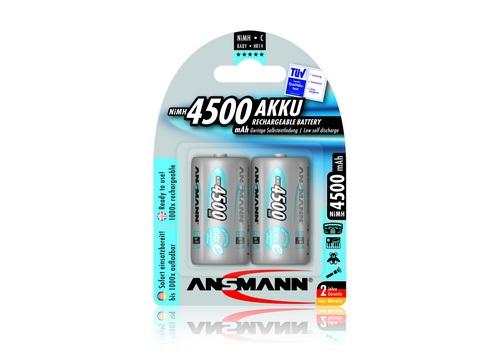 ANSMANN Pin sạc cao cấp NiMH C-4500mAh Baby C / HR14 BL2 - 5035351