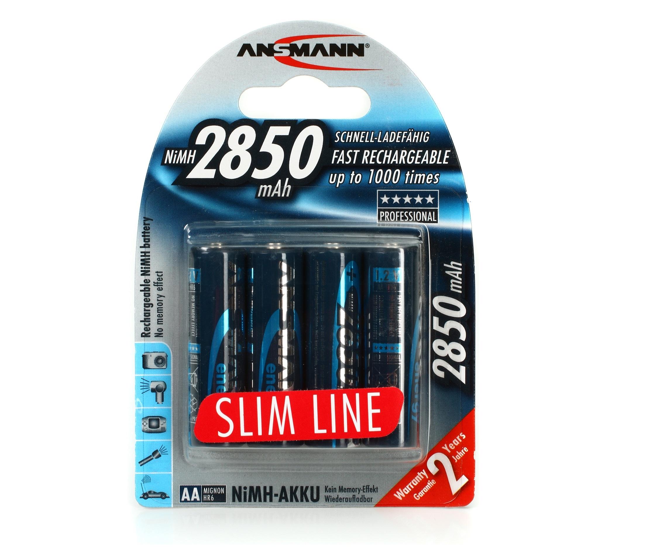 ANSMANN Pin sạc cao cấp NiMH HR6 AA-2850mAh - BL4 - 5035212-US
