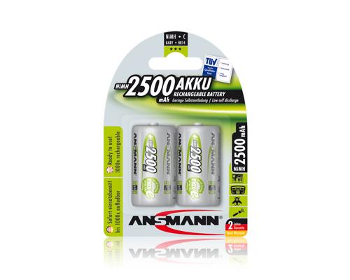 ANSMANN Pin sạc cao cấp NiMH C-2500mAh Baby C / HR14 BL2 - 5030912