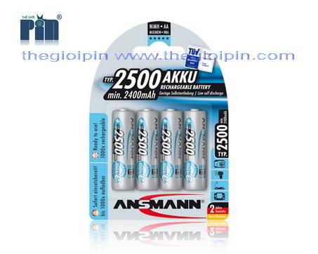 ANSMANN Pin sạc cao cấp NiMH HR6 AA-2500mAh - BL4 - 5035442